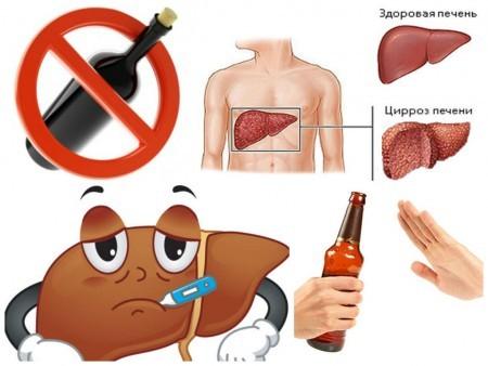 При алкогольном поражении печени уровень алт превышен во много раз
