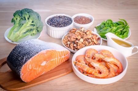 Набор полезных продуктов против высокого холестерина