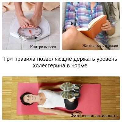 Чтобы нормализовать уровень холестерина - надо вести здоровый образ жизни