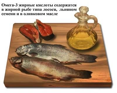 очень полезны продукты с высоким содержанием омега-жирных кислот
